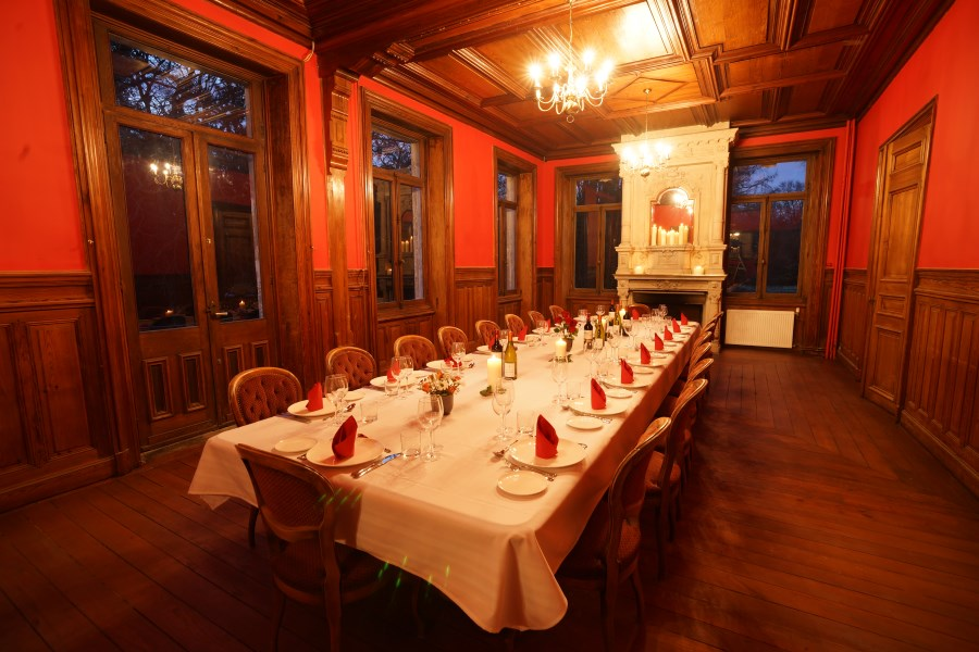 Dining Room At Chateau D'Hallines