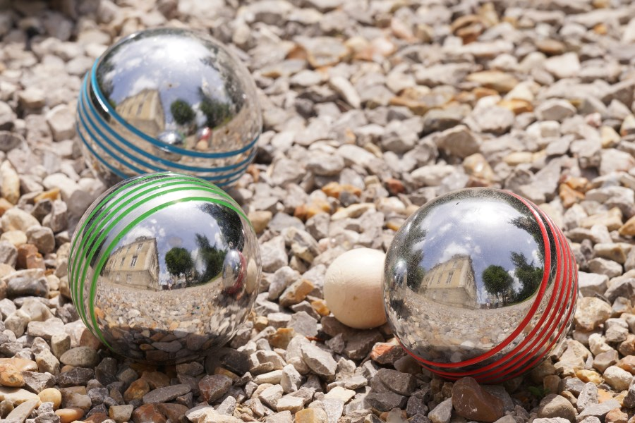Boules at Chateau d'Hallines, Pas-de-Calais, France