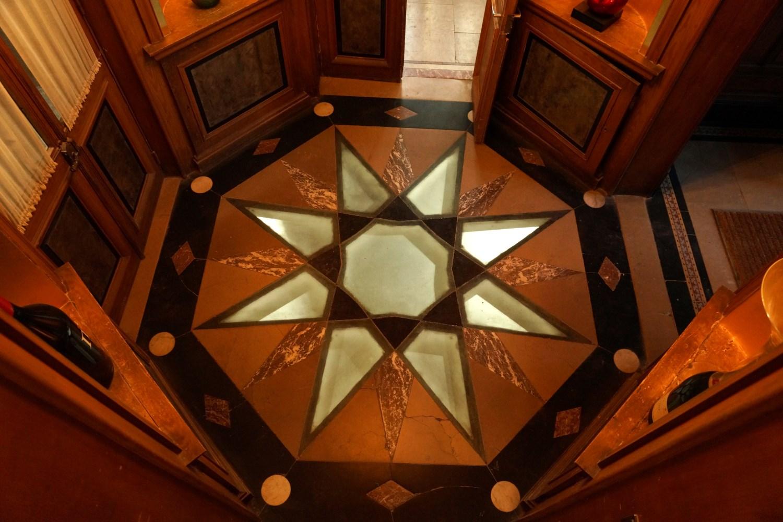The Hallines Star floor decoration