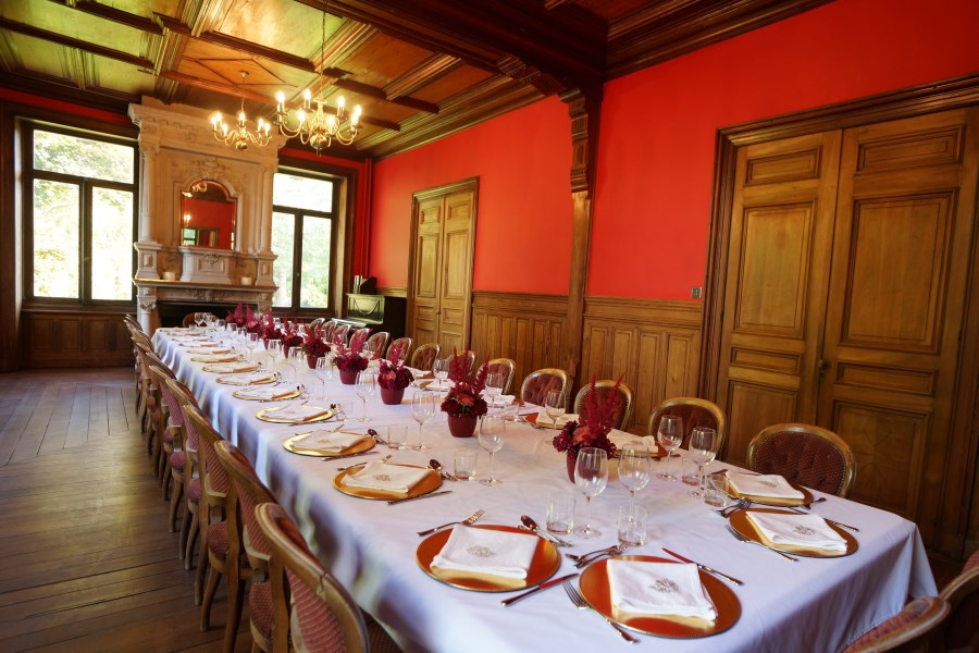 Dining Room Table At Chateau D'Hallines
