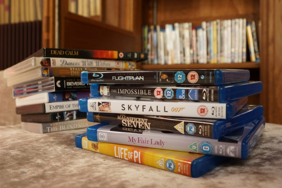DVDs at Chateau d'Hallines, Pas-de-Calais, France