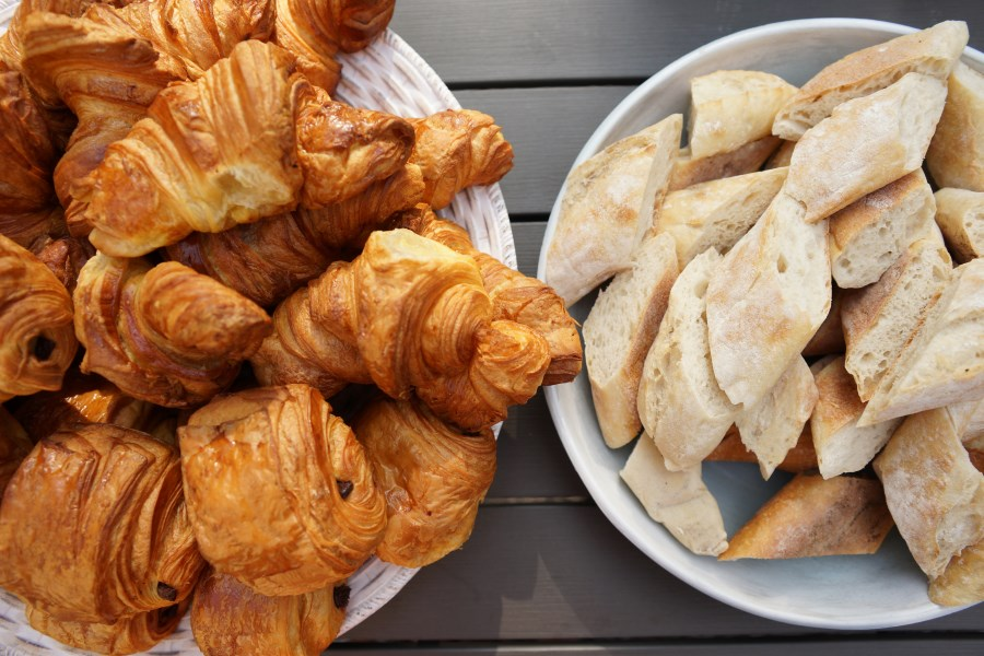 Croissants and bread