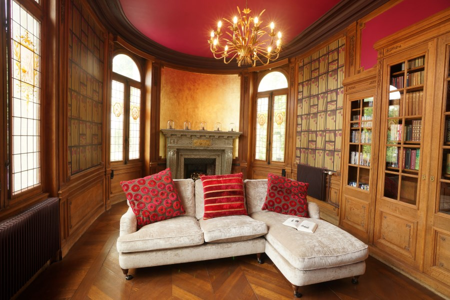 The Library At Chateau D'Hallines