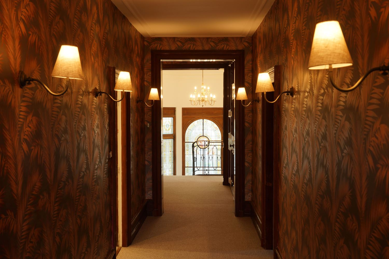 Bedroom corridor at the Big Chateau, Hallines, France