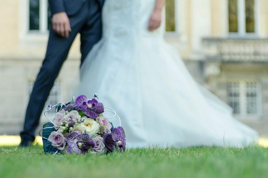 Flowers at wedding venue Big Chateau, Hallines, Pas-de-Calais, Northern France
