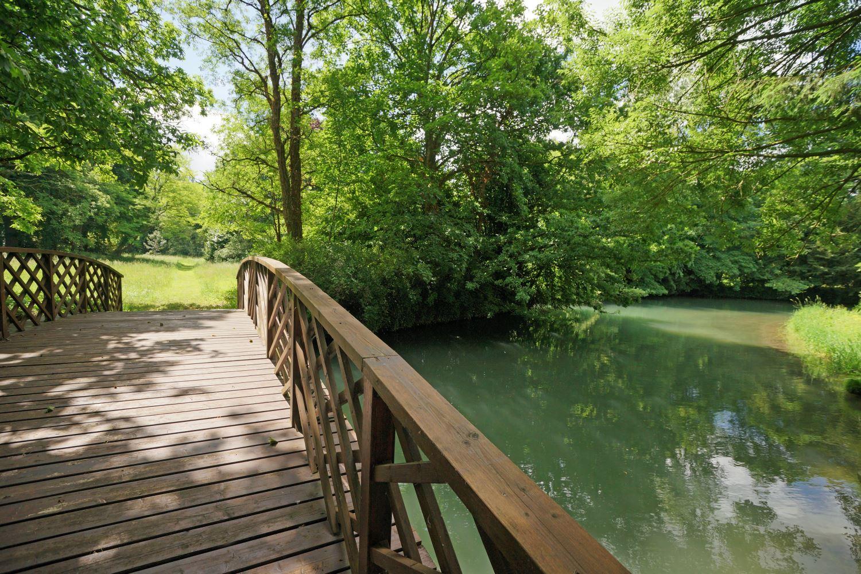 Bridge over the River Aa, Chateau d'Hallines