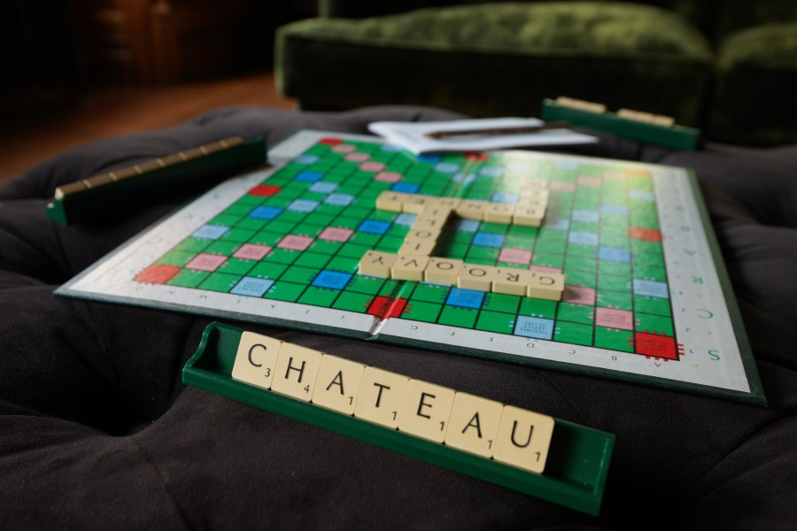 Scrabble In The Grey Sitting Room
