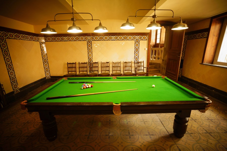 Snooker Table At Chateau D'Hallines, Pas-de-Calais, France